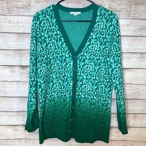 Isaac Mizrahi Live Green Long Sleeve Sweater